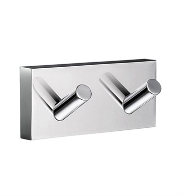 Smedbo RK356 House Hook Double in Polished Chrome