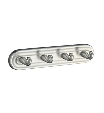 Smedbo V259N Villa Hook Quadruple in Brushed Nickel