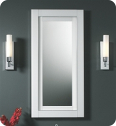 "Robern Candre 19"" x 39 1/8"" Wall Mirror in White Glass"