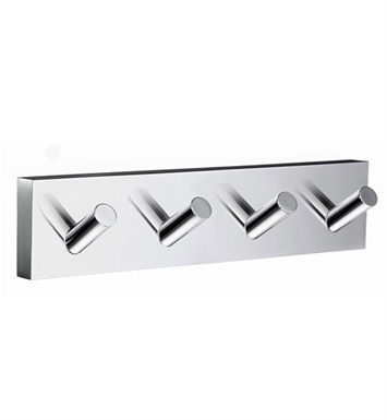 Smedbo RK359 House Hook Quadruple in Polished Chrome