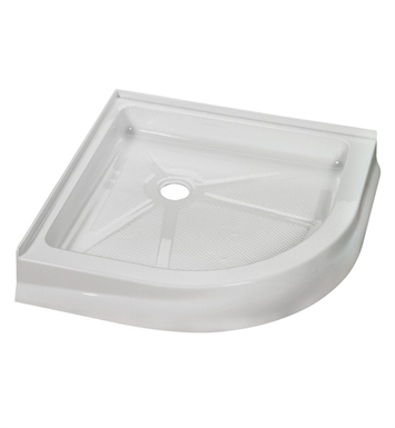 "Fleurco ABR32-18 Round Acrylic Corner Shower Base With Base Size: 32"" x 32"" x 4 1/2"" And Finish: White"