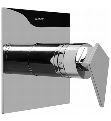 Graff G-8041-LM23S-PC Thermostatic Valve Trim with Handle With Finish: Polished Chrome