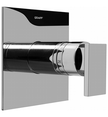 Graff G-8041-LM31S-PC Thermostatic Valve Trim with Handle With Finish: Polished Chrome