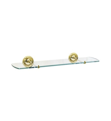 Smedbo V247 Villa Shelf Wallmount in Polished Brass