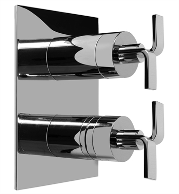 Graff G-8046-C9S-SN Thermostatic Valve Trim with Two Handles With Finish: Steelnox (Satin Nickel)
