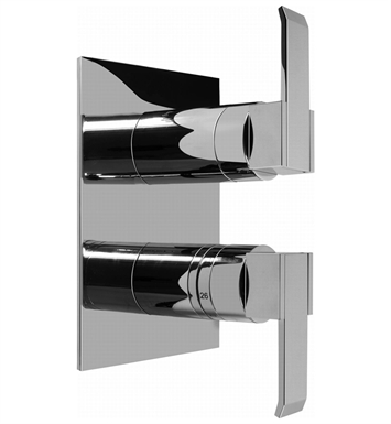 Graff G-8046-LM38S-PC/BK Thermostatic Valve Trim with Two Handles With Finish: Architectural Black w/ Chrome Accents