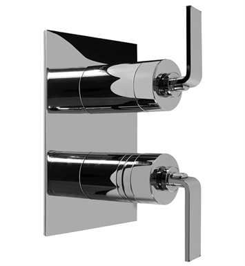 Graff G-8046-LM40S-SN Thermostatic Valve Trim with Two Handles With Finish: Steelnox (Satin Nickel)
