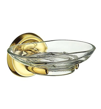 Smedbo V242 Villa Holder with Glass Soap in Polished Brass