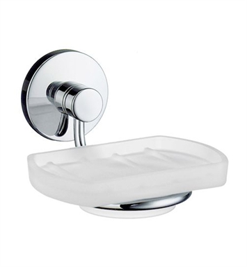 Smedbo NK342 Studio Holder with Glass Soap in Polished Chrome