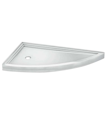 Fleurco ABSL66-18L Slice Acrylic Corner Shower Base With Base Direction: Left Side And Finish: White