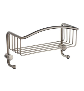 Smedbo C374N Cabin Soap Basket Straight 1 Level in Brushed Nickel