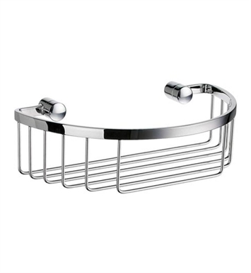 Smedbo DK2011 Sideline Soap Basket Straight 1 Level in Polished Chrome