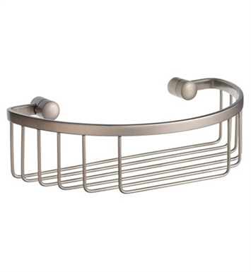 Smedbo D2011N Sideline Soap Basket Straight 1 Level in Brushed Nickel