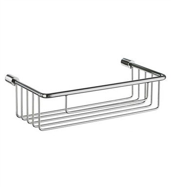 Smedbo DK1001 Sideline Soap Basket Straight 1 Level in Polished Chrome