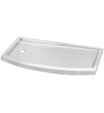 Fleurco ABF3260BFR-18 Bowfront Acrylic In Line Shower Base With Base Direction: Right Side And Finish: White