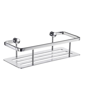 Smedbo DK3001 Sideline Soap Basket Straight 1 Level in Polished Chrome