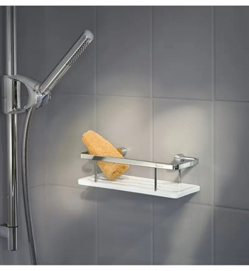 Smedbo DK3004 Sideline Soap Basket Straight 1 Level in Polished Chrome