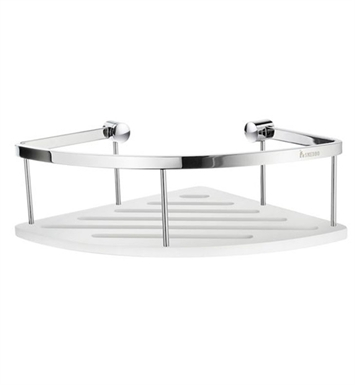 Smedbo DK3034 Sideline Corner 1 Level in Polished Chrome