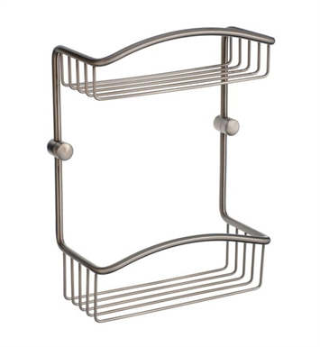 Smedbo C377N Cabin Soap Basket Straight 2 Level in Brushed Nickel
