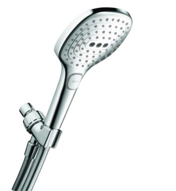 "Hansgrohe 04520000 Raindance Select E 120 Air Green 4 3/4"" 3-Jet Handshower Set with QuickClean, AirPower and Select Technologies With Finish: Chrome"