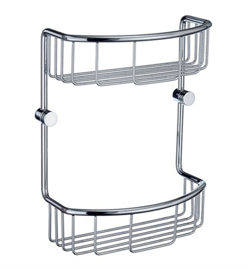 Smedbo NK377 Studio Soap Basket Straight 2 Level in Polished Chrome