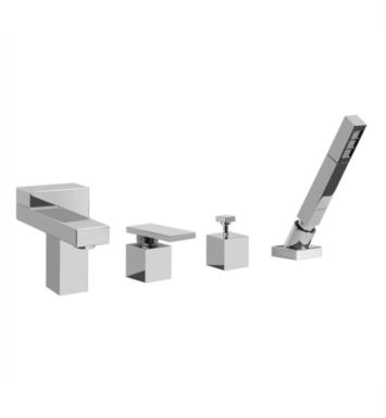 "Graff G-3151-LM31 Structure 8 1/2"" Single Handle Widespread/Deck Mounted Roman Tub Faucet with Hand Shower and Diverter"