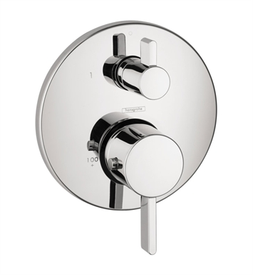 Hansgrohe 04231820 S Thermostatic Trim with Volume Control and Diverter With Finish: Brushed Nickel