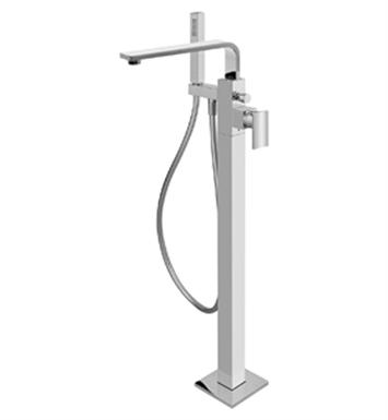 Graff G-3654-LM36N-SN Targa Floor Mounted Tub Filler with Handshower With Finish: Steelnox (Satin Nickel)