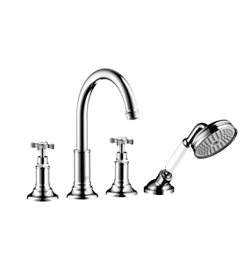 Hansgrohe 16544 Axor Montreux 4 Hole Roman Tub Set Trim with Cross Handles