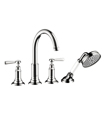 Hansgrohe 16550001 Axor Montreux 4 Hole Roman Tub Set Trim with Lever Handles With Finish: Chrome