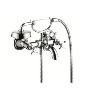 "Hansgrohe 16540821 Axor Montreux 6 7/8"" Double Handle Wall Mount Tub Filler with Handshower With Finish: Brushed Nickel"