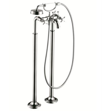 "Hansgrohe 16547 Axor Montreux 38 1/4"" Double Handle Free Standing Tub Filler with Handshower"