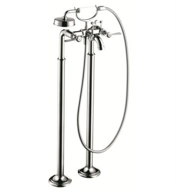 "Hansgrohe 16553821 Axor Montreux 38 1/4"" Double Handle Free Standing Tub Filler with Handshower With Finish: Brushed Nickel"