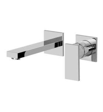 "Graff G-3735-LM31W-SN Solar 7 1/2"" Single Handle Wall Mount Widespread Bathroom Sink Faucet With Finish: Steelnox (Satin Nickel) And Rough / Valve: Rough"