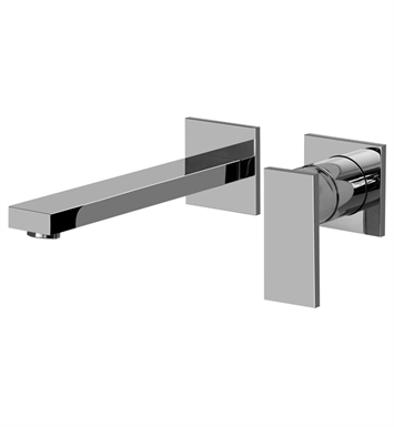 Graff G-3736-LM31W-PC/BK Solar Wall Mounted Lavatory Faucet With Finish: Architectural Black w/ Chrome Accents