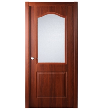 Arazzinni CAPRICHEZA-MAHOGANY-GLASS Capricheza Interior Door in a Mahogany Finish with Glass