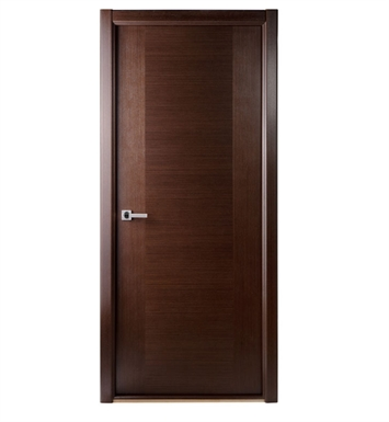 Arazzinni CL300-W-3680-JW-CW-FCW-SOSS212 Classica Lux Interior Door in a Wenge Finish With Door Width: 35 13/16 inches And Hanging Options: Complete with Door Jambs, Casing, Door Handle Pre-drilling, and Chrome SOSS Hinges
