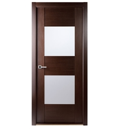 Arazzinni Maximum 204 Interior Door in a Wenge Finish with Frosted Glass Panels