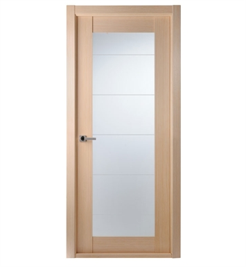 Arazzinni MAXIMUM-209-BLEACHED-OAK Maximum 209 Interior Door in a Bleached Oak Finish with Frosted Glass