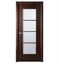 Arazzinni Modern Lux Interior Door in a Wenge Finish with Frosted Glass