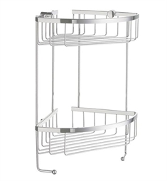 Smedbo Sideline DK2031 Soap Basket Corner 2 Level in Polished Chrome