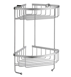 Smedbo Sideline DS2031 Soap Basket Corner 2 Level in Brushed Chrome