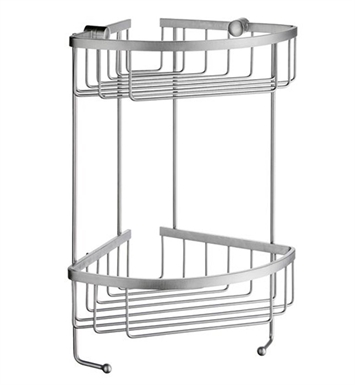 Smedbo DS2031 Sideline Soap Basket Corner 2 Level in Brushed Chrome