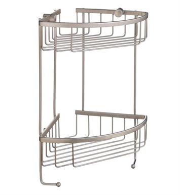 Smedbo D2031N Sideline Soap Basket Corner 2 Level in Brushed Nickel