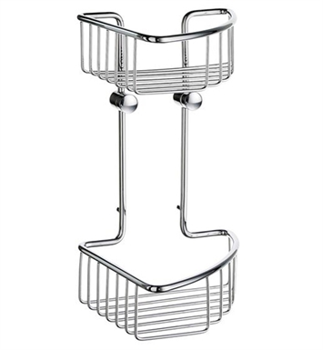 Smedbo DK1021 Sideline Soap Basket Corner 2 Level in Polished Chrome