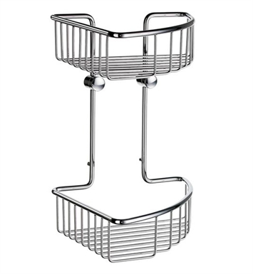 Smedbo DK1022 Sideline Soap Basket Corner 2 Level in Polished Chrome