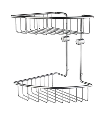 Smedbo HK377 Home Soap Basket Corner 2 Level in Polished Chrome