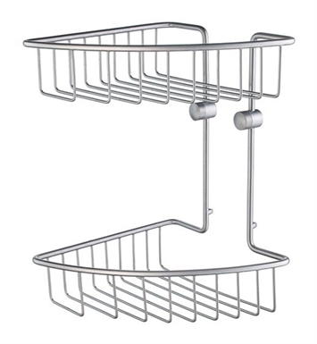 Smedbo HS377 Home Soap Basket Corner 2 Level in Brushed Chrome