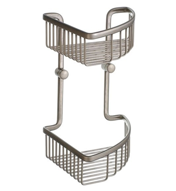 Smedbo L377N Loft Soap Basket Corner 2 Level in Brushed Nickel