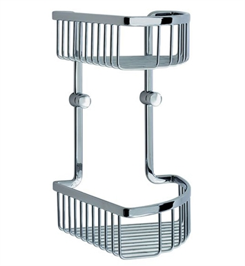 Smedbo LK377 Loft Soap Basket Corner 2 Level in Polished Chrome